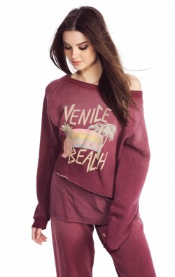 Wildfox Venice Rainbow Pullover Sweater