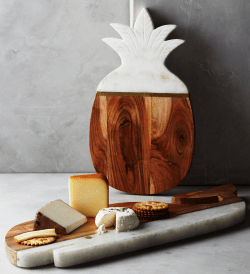 Marble & Acacia Pineapple & Whale Handmade Cheese Board