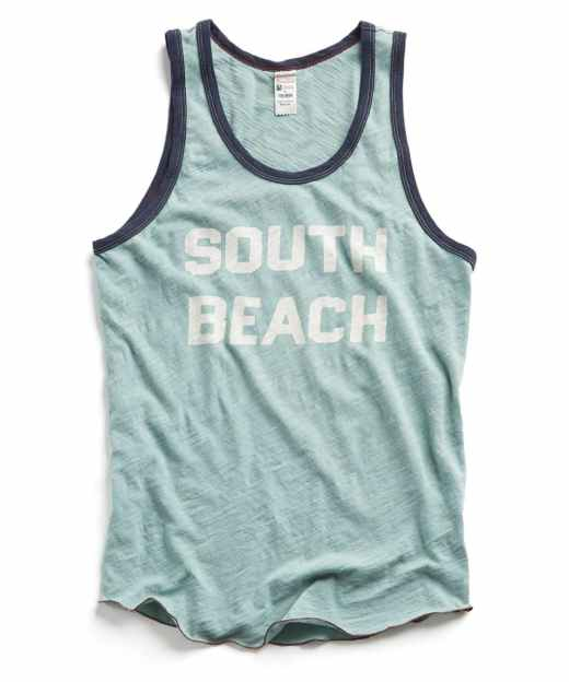 Todd Snyder Seafoam Miami South Beach Tank Top