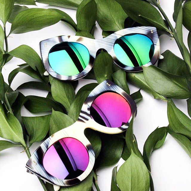 Illesteva Boca Cat-Eye Green Sunglasses