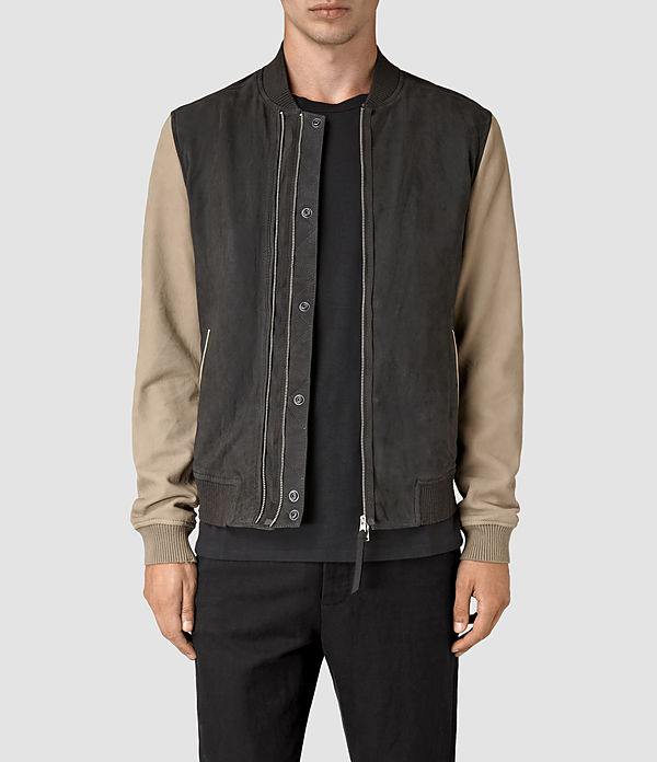 ALLSAINTS Avon Leather Mens Bomber Jacket