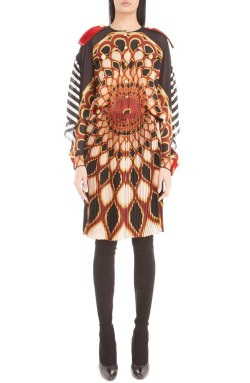 Givenchy 'Psychd' Print Open Back Silk Georgette Dress