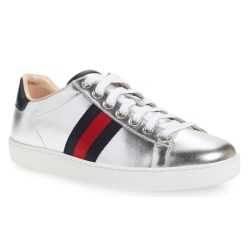 Gucci 'New Ace' Metallic Low Top Womens Shoes