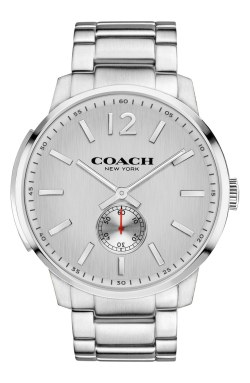 COACH 'Bleeker' Round Bracelet Mens Silver Watch