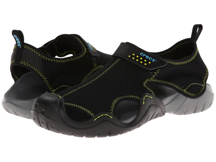 Crocs Swiftwater Black & Charcoal Sandals