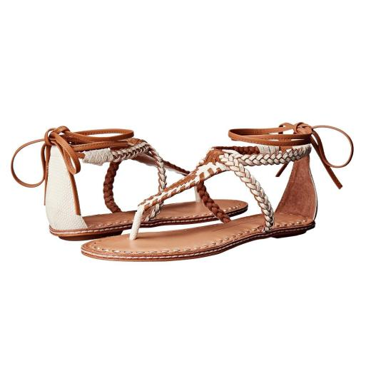 Dolce Vita Keoni Caramel Leather Womens Gladiator Sandals