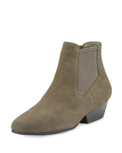 Eileen Fisher Knack Graphite Mesh-Panel Nubuck Bootie Shoes