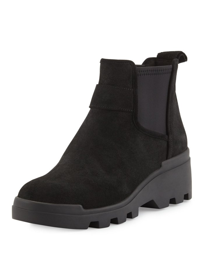 Eileen Fisher Swish Water-Resistant Black Chelsea Boots