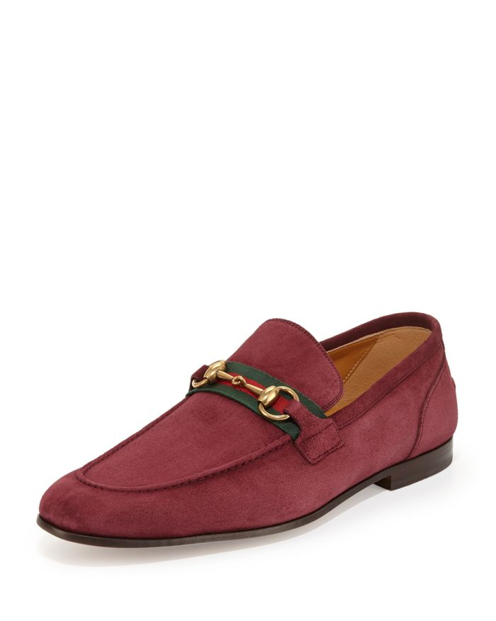 Gucci Suede Horsebit Loafer