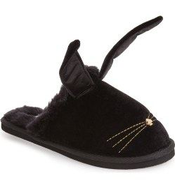 Kate Spade New York Bonnie Bunny Velvet Womens Slippers
