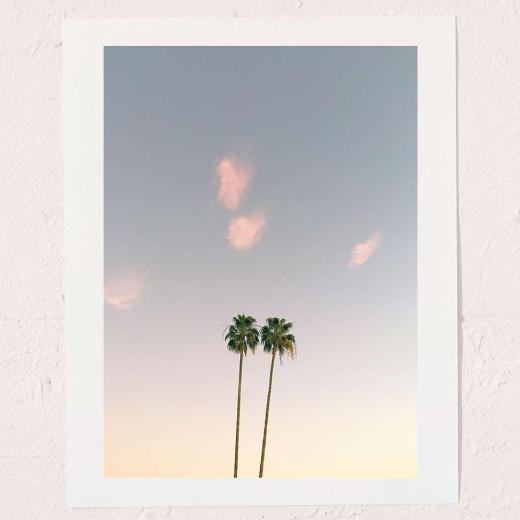 'Twins' Palm Trees Art Print By Max Wanger
