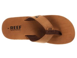 Reef Mens Leather Smoothy Bronze / Brown Sandals