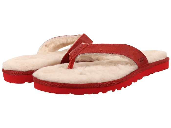 UGG Classic Red Leather Sandals