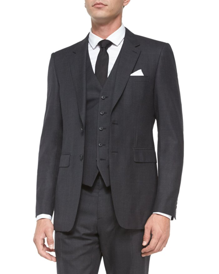Burberry Prince of Wales Charcoal Three-Piece Suit