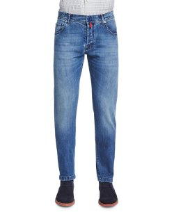 Kiton Slim-Fit Medium-Wash Denim Jeans