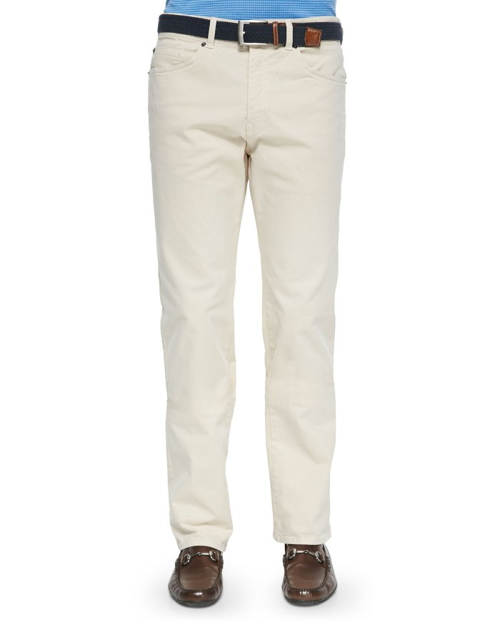 Peter Millar Stretch Five-Pocket Khaki Pants