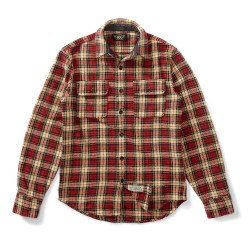 RRL & CO. Plaid Cotton Twill Mens Shirt