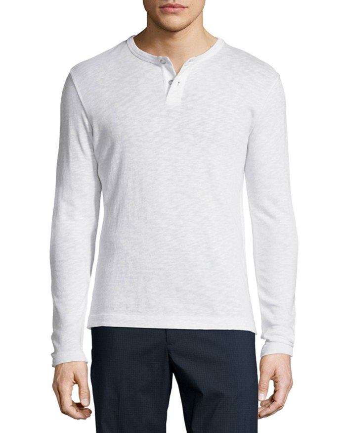Theory Gaskell Long-Sleeve Henley Shirt