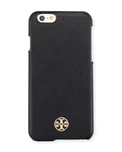 Tory Burch Robinson Saffiano Black Hardshell iPhone 6/6s Case