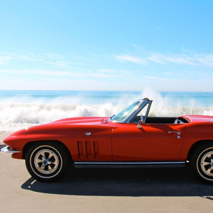 Chevrolet Corvette Stingray Convertible 1965 Red Classic Car