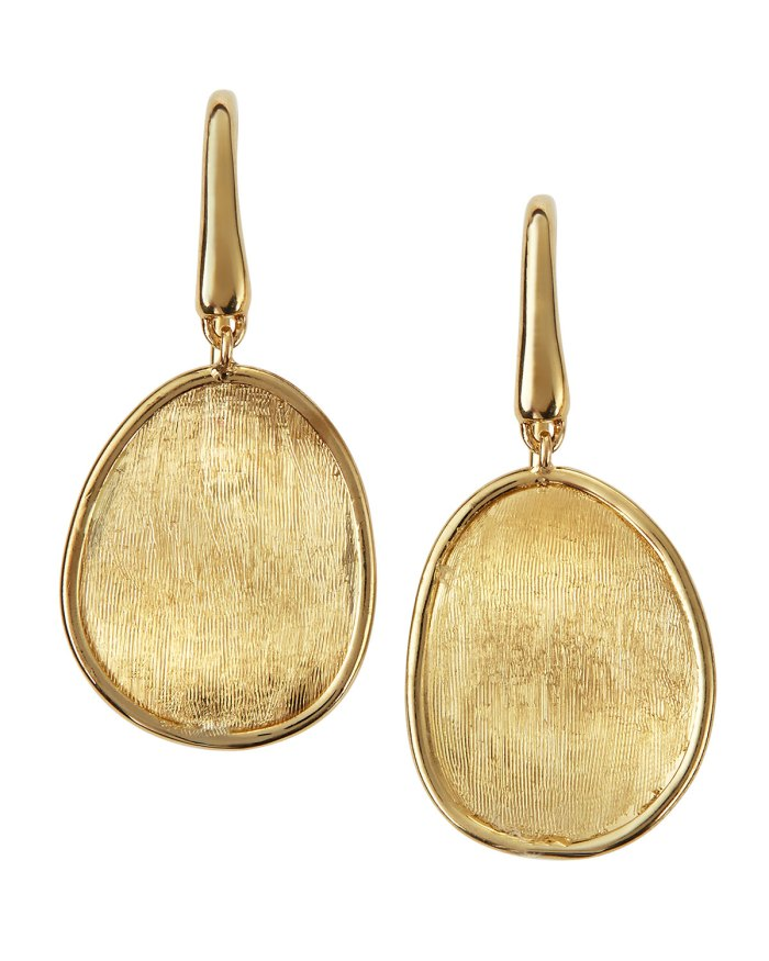 Marco Bicego Lunaria 18k Gold Drop Earrings