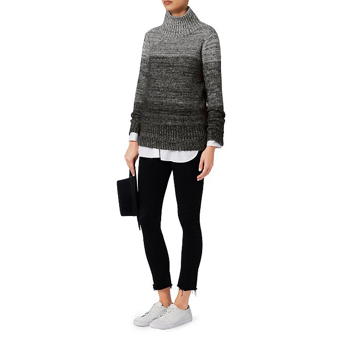 Rag & Bone Melina Grey Turtleneck Sweater