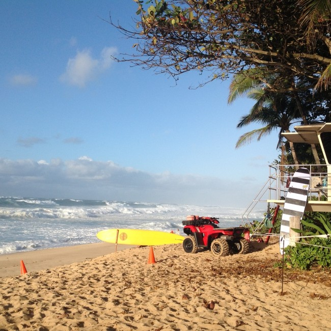Banzai Pipeline on the North Shore in Oahu, Hawaii