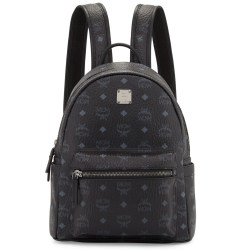 MCM Stark Small No Stud Black Backpack