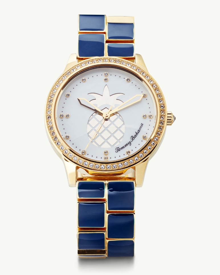 Tommy Bahama Swarovski Crystal Pineapple Lahaina Watch