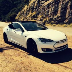 2013 Pearl White Tesla Model S Electric Luxury Car