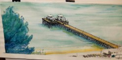 """MALIBU PIER"" Original Watercolor Painting"