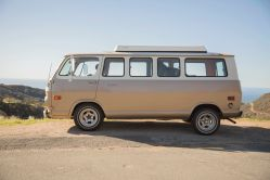1968 Chevrolet G20 Gold and White Camper Van