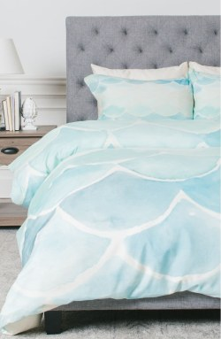 Mermaid Scales Duvet Cover & Sham Set by Deny Designs