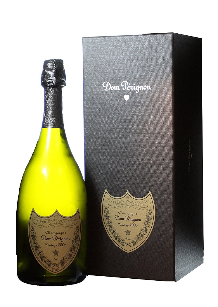 2006 Dom Perignon Champagne 750 mL Wine With Gift Box