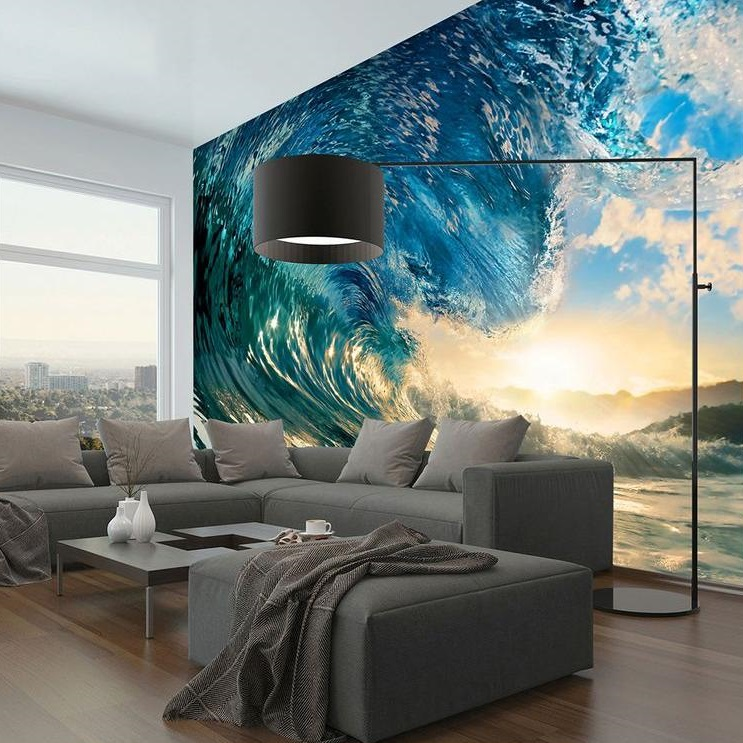 The Perfect Ocean Wave Art Wall Mural