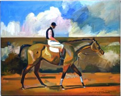 """After The Race"" Original Oil Painting by Michael A. Ponce"