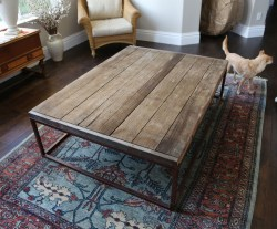 Restoration Hardware Reclaimed Oak Wood Coffee Table