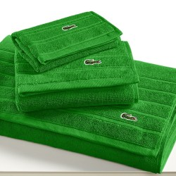 Lacoste Croc Solid Pure Cotton Glade Bath Towel Collection