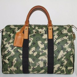 Louis Vuitton Speedy 35 Monogramouflage Camouflage Bag Designed by Takashi Murakami
