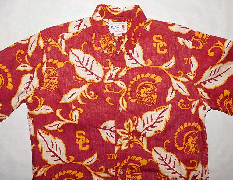 Reyn Spooner USC TROJANS Football Small Hawaiian Shirt