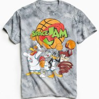 Space Jam Tie Dye Graphic T-Shirt