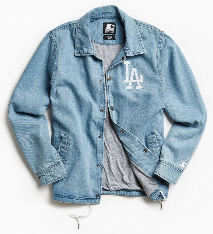 Los Angeles Denim Indigo LA Coach UO x Starter Jacket
