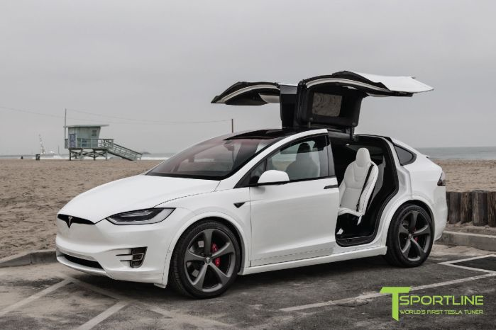 Tesla P90d For Sale >> 2016 Tesla Model X P90D Pearl White Ludicrous Customized by T Spor ... | MALIBU MART