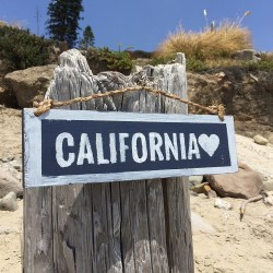 California Love Handmade Wood Sign