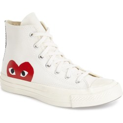 PLAY x Converse Chuck Taylor 'Hidden Heart' High Top Sneakers by COMME DES GARÇONS