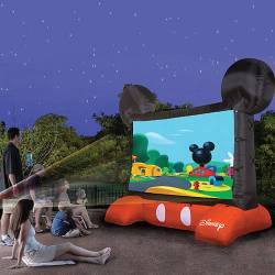 Disney Mickey Mouse Inflatable 10ft Diagonal Outdoor Movie Screen Backyard Theater