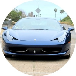2012 Ferrari 458 F1 Italia Tour de France Blue Sports Car