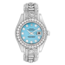 Rolex Pearlmaster 18k White Gold Diamond Watch
