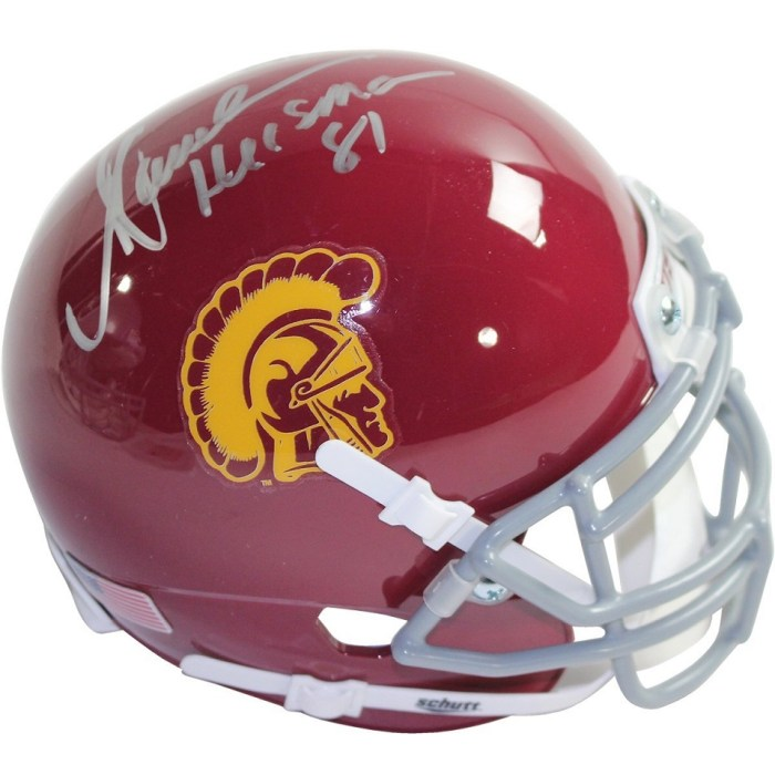 Marcus Allen Autographed University of Southern California USC Mini Helmet With Heisman Inscription