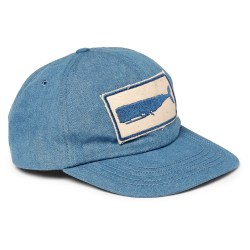 MOLLUSK Whale Appliquéd Denim Baseball Cap
